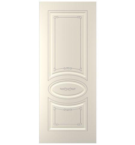 фото: Дверь Прима, тон Ваниль патина серебро (акрил)