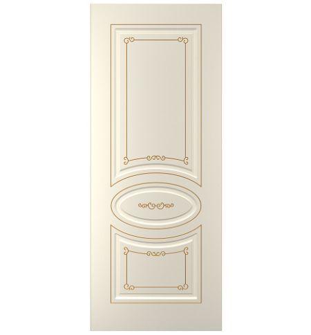 фото: Дверь Прима, тон Ваниль патина золото (акрил)