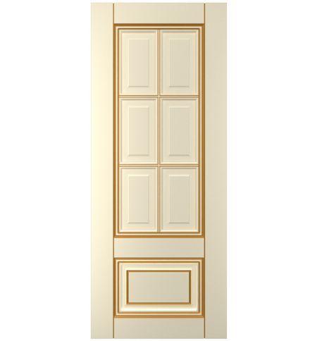 фото: Дверь Паола, тон Крем патина золото (акрил)