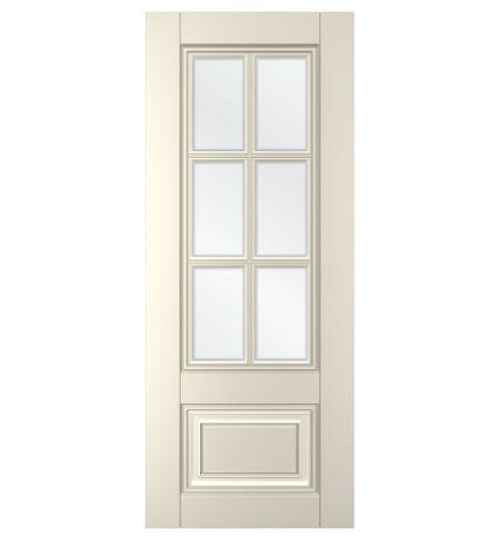 фото: Дверь Паола, тон Ваниль, стекло сатинат