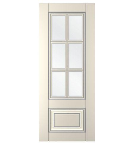 фото: Дверь Паола, тон Ваниль патина серебро (акрил), стекло сатинат