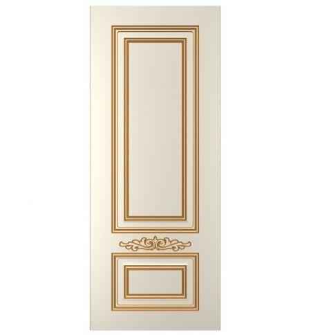 фото: Дверь Паллада-2, тон Ваниль, патина золото (акрил)