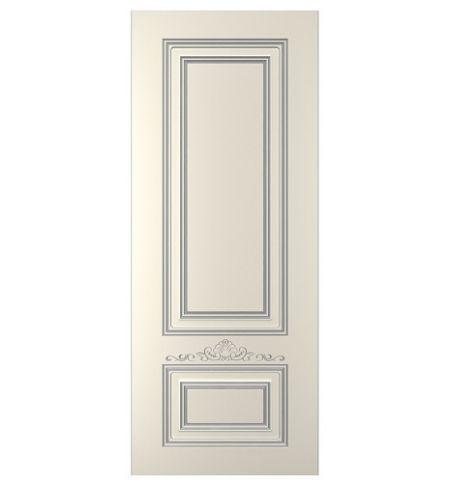 фото: Дверь Паллада-1, тон Ваниль патина серебро (акрил)