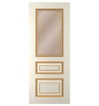 фото: Дверь Неаполь, тон Ваниль патина золото (акрил), стекло сатинат бронза наплыв золотой рис.2