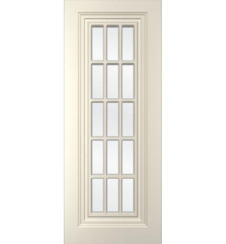 фото: Дверь Леон, тон ваниль, стекло сатинат
