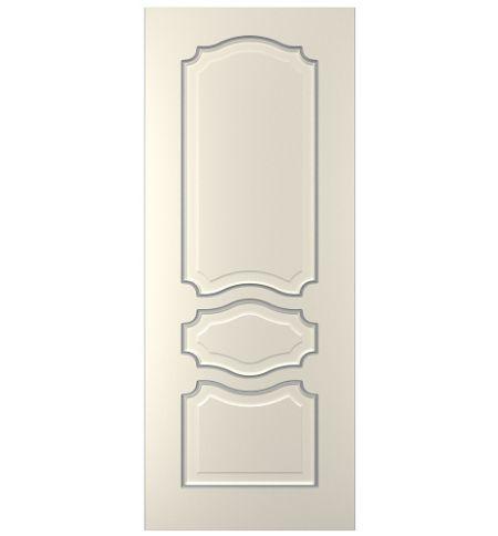 фото: Дверь Жасмин-3, тон Ваниль патина серебро (акрил)