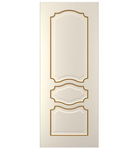 фото: Дверь Жасмин-3, тон Ваниль патина золото (акрил)