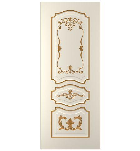 фото: Дверь Жасмин-2, тон Ваниль патина золото (акрил)