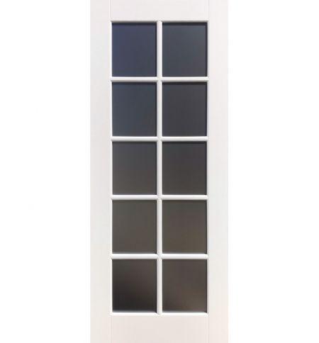 фото: Дверь Уэльс тон Персиковый стекло сатинат бронза графит