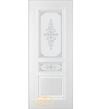 фото: Дверь Троя, тон белый, стекло матовое рис.Троя