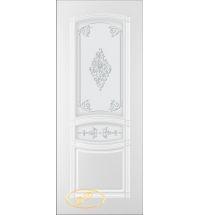 фото: Дверь Троя-1, тон белый, стекло матовое рис.Троя-1