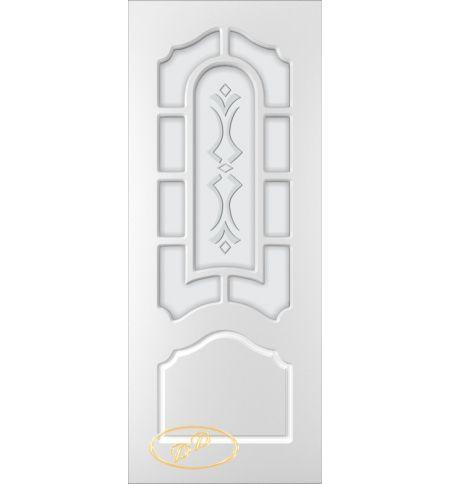 фото: Дверь Соната, тон белый, стекло матовое рис.Соната
