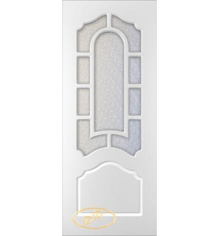 фото: Дверь Соната, тон белый, стекло диамант
