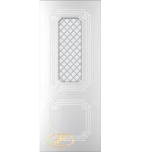 фото: Дверь Персия, тон белый стекло матовое рис.Решетка