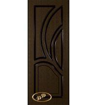 фото: Дверь Карелия-2, шпон венге, пазы черные