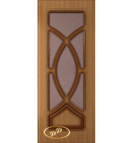 фото: Дверь Камелия, шпон дуб тон карелия, пазы тон карелия, стекло дельта бронза