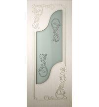 фото: Дверь Италия, шпон белёный дуб, стекло матовое рис.Италия