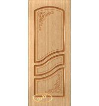 фото: Дверь Ирен, шпон дуб, пазы корич.