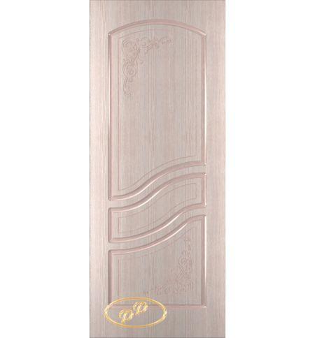 фото: Дверь Ирен, шпон беленый дуб, пазы бежевые