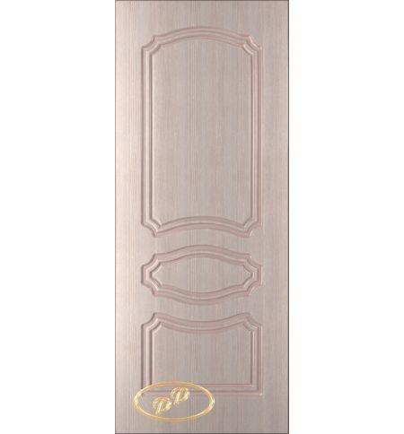 фото: Дверь Жасмин, шпон беленый дуб, пазы бежевые