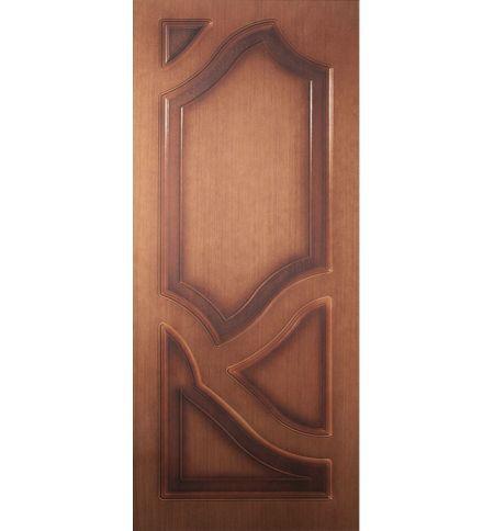 фото: Дверь Волна, шпон орех, пазы корич.