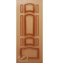 фото: Дверь Ампир, шпон дуб, пазы коричневые