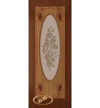фото: Дверь Аванти, шпон дуб тон британия /карелия, стекло матовое бронза рис.Аванти