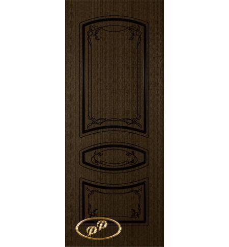 фото: Дверь Авангард, шпон венге, пазы черные