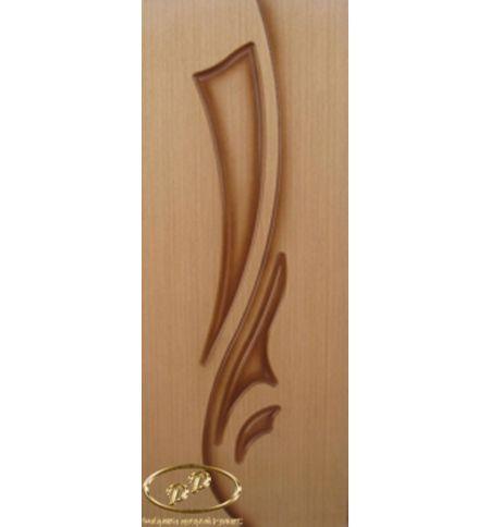 фото: Дверь Элегия-1, шпон дуб, пазы корич.