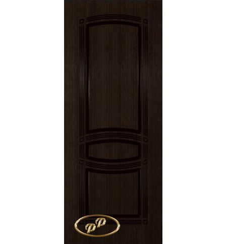 фото: Дверь Троя-1, шпон мореный дуб, пазы черные