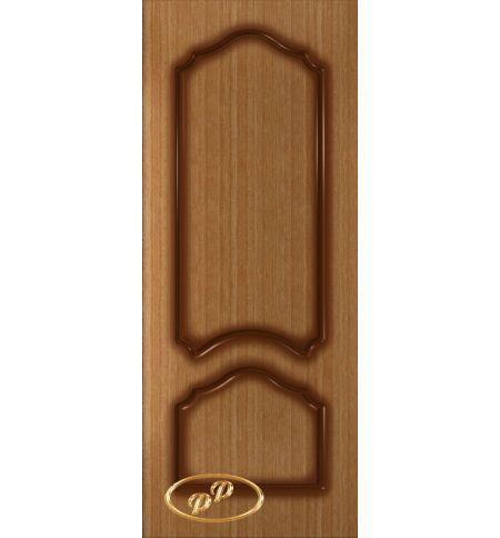 фото: Дверь Соната, шпон дуб тон карелия, пазы тон карелия