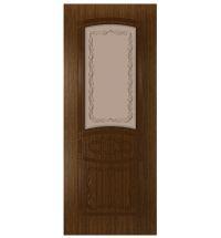 фото: Дверь Сапфир, шпон орех тонированный, стекло матовое бронза рис.Сапфир