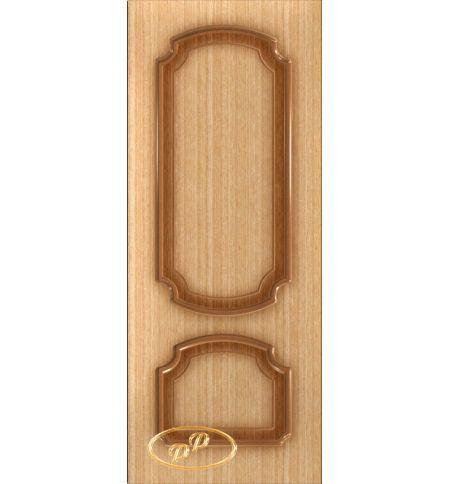 фото: Дверь Румакс, шпон дуб, пазы корич.