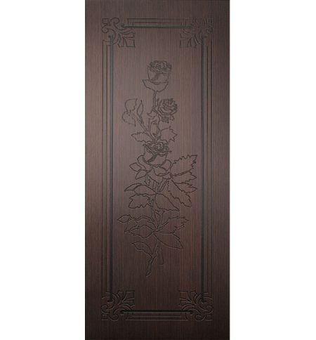 фото: Дверь Роза, шпон венге, пазы черные
