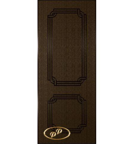 фото: Дверь Персия, шпон венге, пазы черные