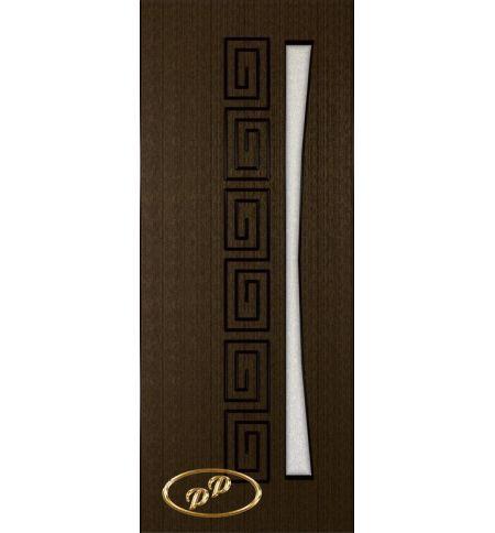 фото: Дверь Олимп, шпон венге, пазы черные, стекло диамант