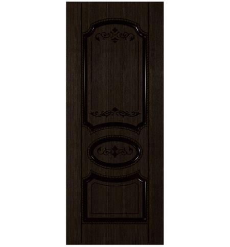 фото: Дверь Муза, шпон мореный дуб, пазы черные