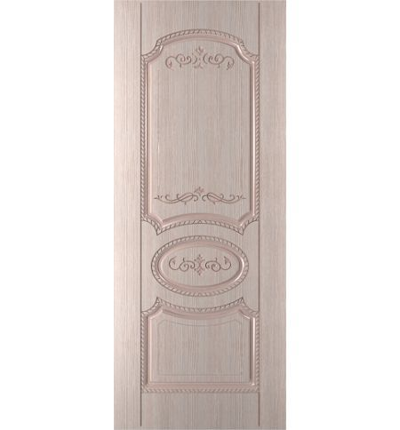 фото: Дверь Муза, шпон беленый дуб, пазы бежевые