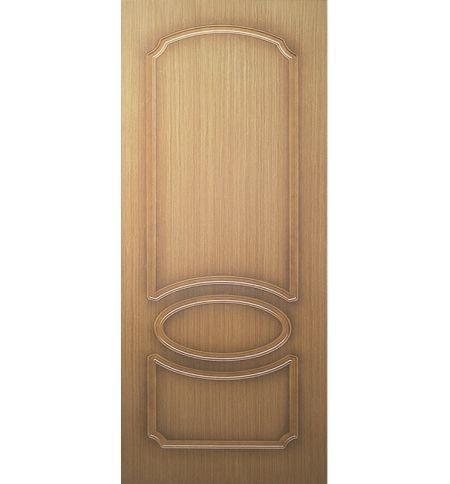 фото: Дверь Милана, шпон дуб, пазы корич.
