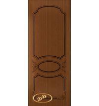 фото: Дверь Каролина, шпон дуб тон карелия, пазы тон карелия