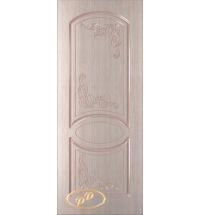 фото: Дверь Каролина-1, шпон беленый дуб, пазы бежевые