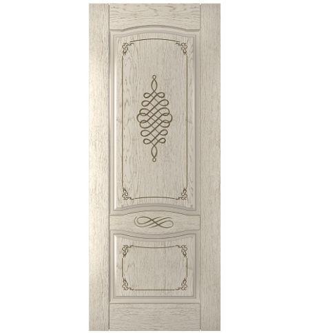 фото: Дверь Дубрава-1, шпон натуральный дуб тон латте