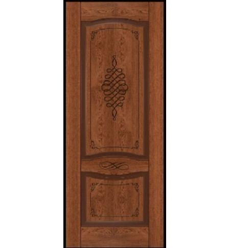 фото: Дверь Дубрава-1, шпон натуральный дуб тон коньяк