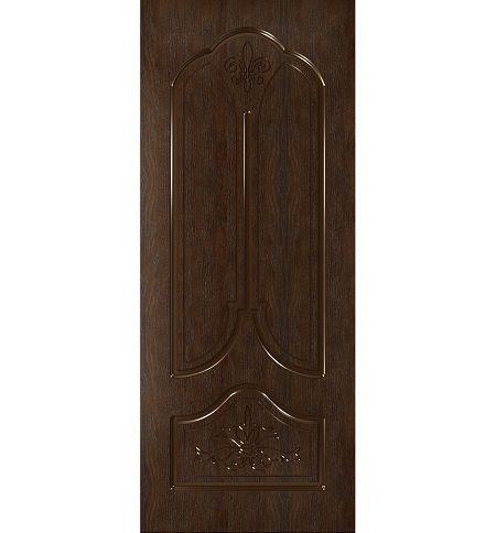 фото: Дверь Афина, шпон натуральный дуб тон каштан