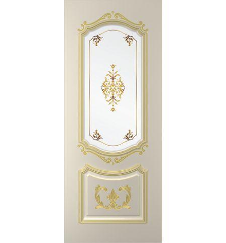 фото: Дверь Сабрина, тон Авангард патина золото-I (акрил) , стекло сатинат фотопечать рис.1