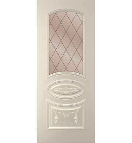 фото: Дверь Ривьера, тон Авангард, стекло сатинат бронза гравировка рис. Решетка