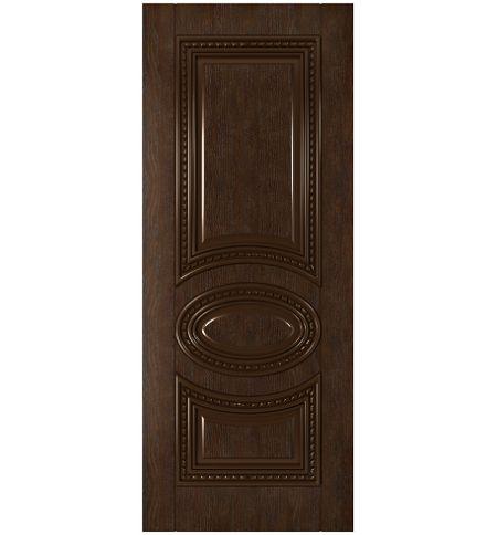 фото: Дверь Лацио, шпон натуральный дуб тон каштан