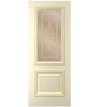 фото: Дверь Дебют, тон Крем, патина золото-I (акрил), стекло сатинат бронза наплыв золотой фотопечать рис. 1