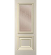фото: Дверь Дебют, тон Авангард, патина золото-I (акрил), стекло сатинат бронза наплыв прозрачный рис. 1