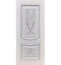 фото: Дверь ДП Сицилия, ПВХ № 21, патина серебро